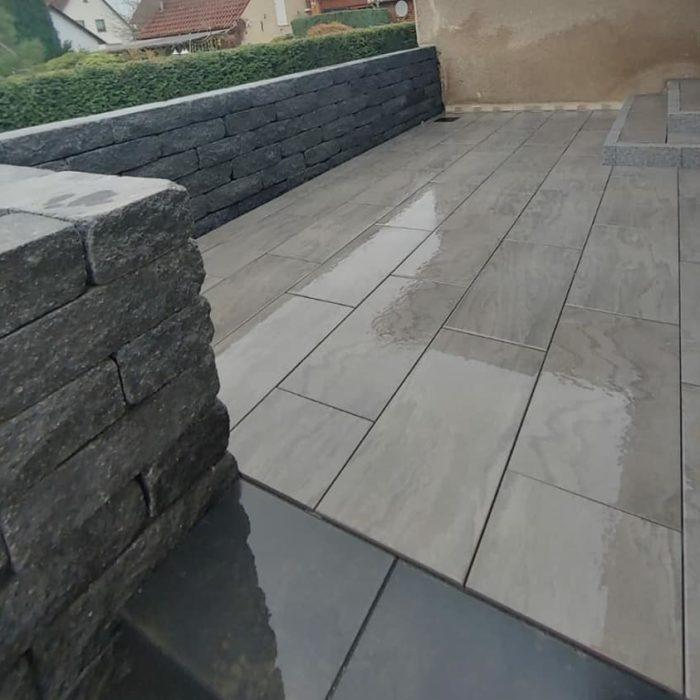 Bv Ölsburg Terrassenbau mit Emperor Keramikplatten 1